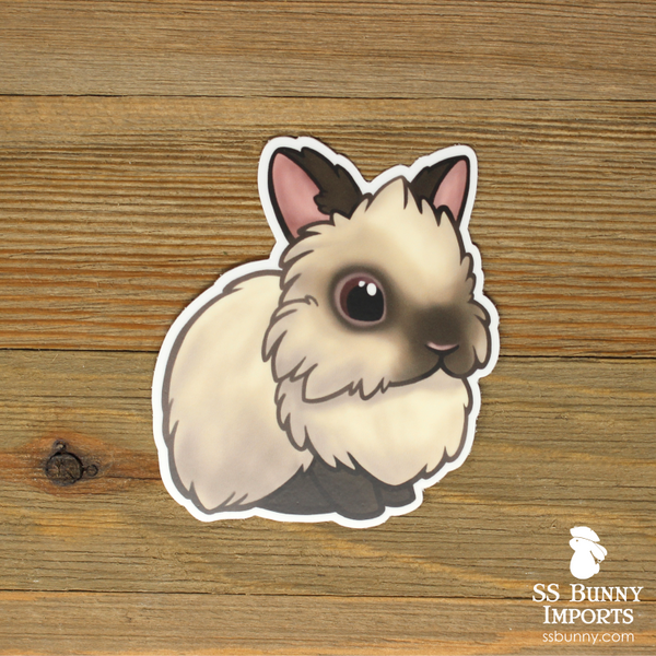 Sable point lionhead sticker