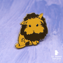 Leo bunny horoscope hard enamel pin