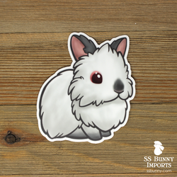 Pointed white lionhead sticker
