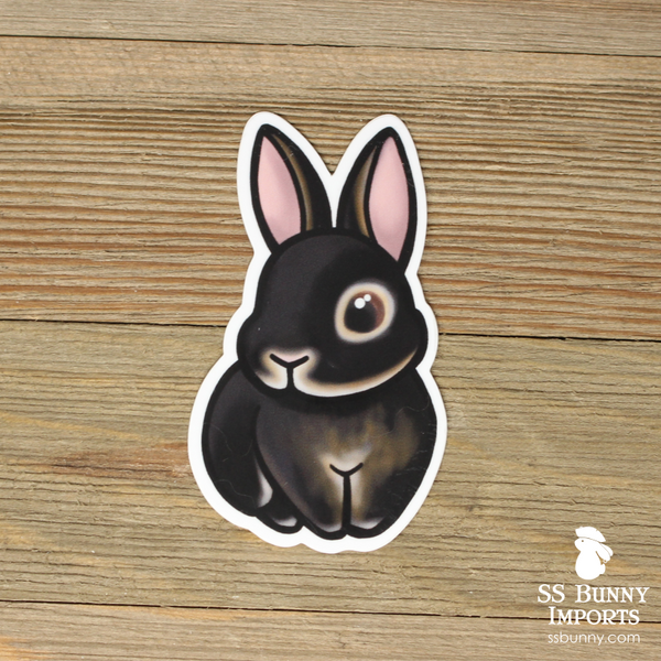 Black otter rabbit sticker