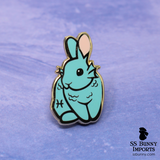 Pisces bunny horoscope hard enamel pin