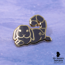 Scorpio bunny horoscope hard enamel pin