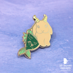 Capricorn bunny horoscope hard enamel pin