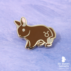 Taurus bunny horoscope hard enamel pin