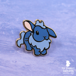 Aquarius bunny horoscope hard enamel pin