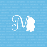M is for Mini Lop; monogram decal
