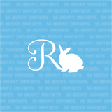 R is for Rex rabbit; monogram decal