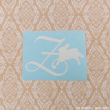 Z is for zany bunny; monogram decal