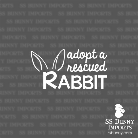 Adopt a rescued rabbit decal