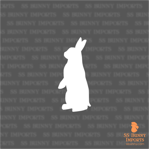 Alert bunny silhouette decal