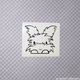 Peeking Angora bunny decal