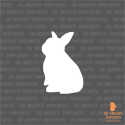 Baby bunny silhouette decal