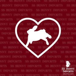 Rabbit binky heart decal