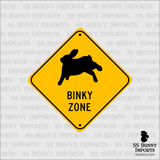 Binky Zone sign