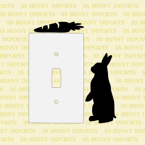 Begging rabbit wall decal