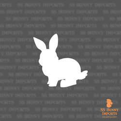 Chibi bunny silhouette decal