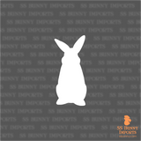 Curious rabbit silhouette decal
