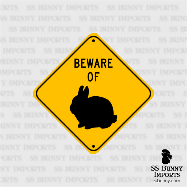 Beware of Dwarf Bunny sign