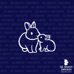 Dwarf bunny family decal
