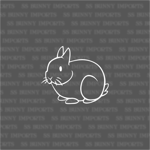 Stick figure dwarf bunny decal