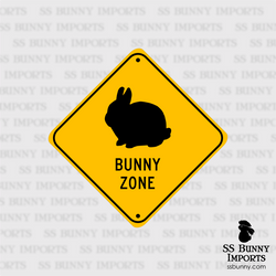 Dwarf Bunny Zone sign