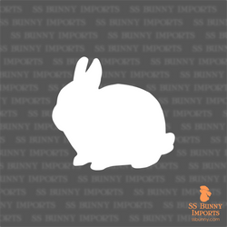 Dwarf rabbit silhouette decal