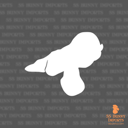 English Lop silhouette decal