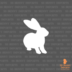 Flemish Giant silhouette decal