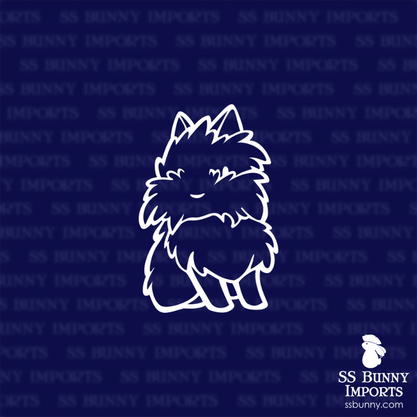 Fluffy lionhead rabbit decal