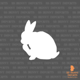 Grooming rabbit silhouette decal