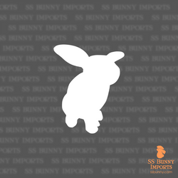 Helicopter bunny silhouette decal
