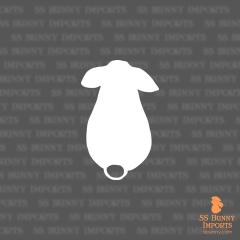 Lop rabbit butt silhouette decal