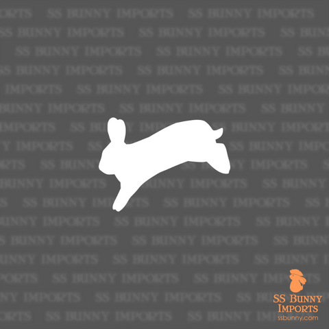 Jumping rabbit silhouette decal