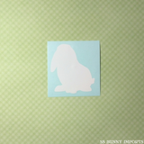 Loppy bunny silhouette decal