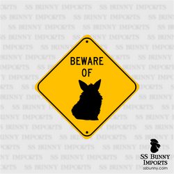 Beware of Lionhead Bunny sign