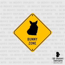 Lionhead Bunny Zone sign