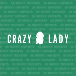 Crazy lop bunny lady decal, strip