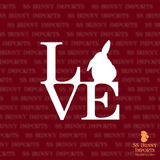 Half lop bunny love decal