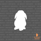 Mini Lop silhouette decal
