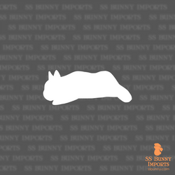 Napping dwarf bunny silhouette decal