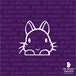 Peeking dwarf bunny decal