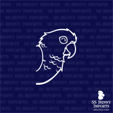 Happy peeking conure decal