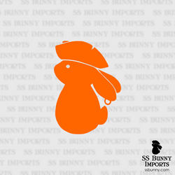 Pirate bunny silhouette decal