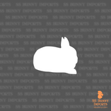 Polish dwarf rabbit silhouette decal