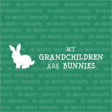 My grandchildren are bunnies decal