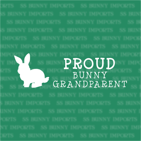 Proud bunny grandparent decal