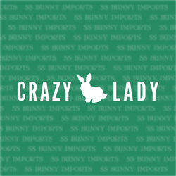 Crazy rabbit lady decal, strip