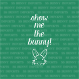 Show me the bunny! - peeking rabbit decal