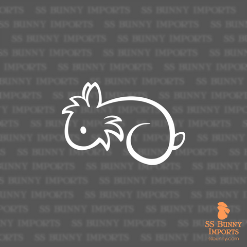 Simple lionhead rabbit decal