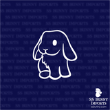 Sitting lop rabbit decal